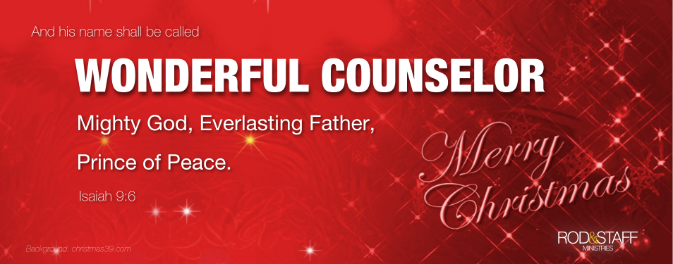 Merry Christmas to You from Rod and Staff Ministries
