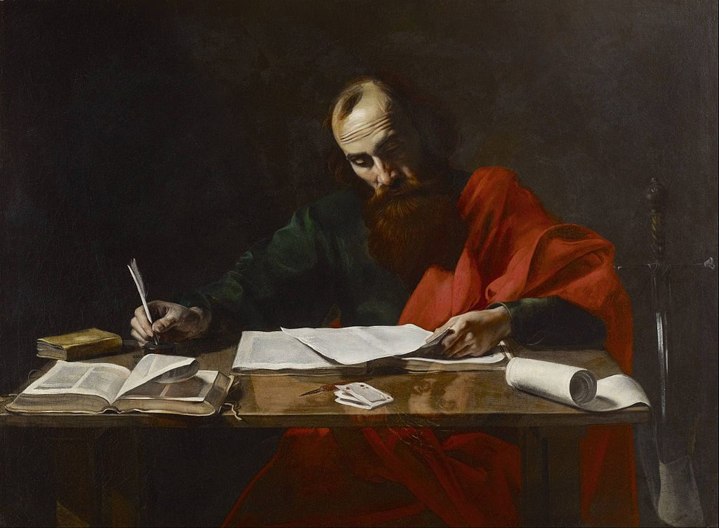 Paul writing epistle